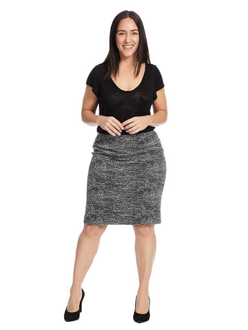 Marled Pencil Skirt