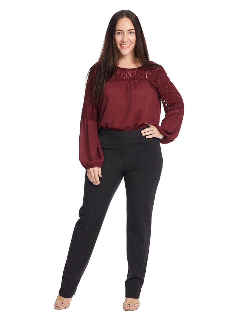 Curvy Fit Slim Leg Pant In Graphite