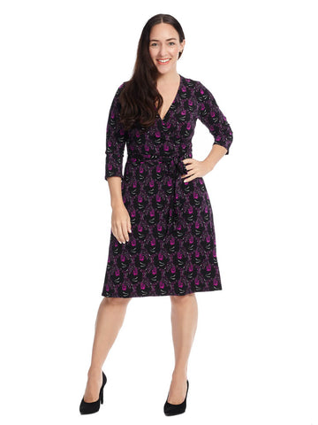 Perfect Wrap Dress In Peacock Print