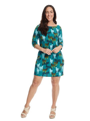 Safari Print Jersey Sheath Dress