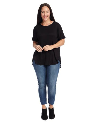 Short Sleeve Black Top