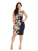 Side Ruched Dress With Leaf Print