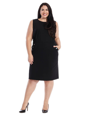 Shift Dress With Grommet Detail