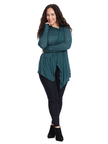 Jade Three-Quarter Sleeve Cardigan