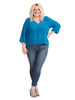 Alba V-Neck Blouse In Teal