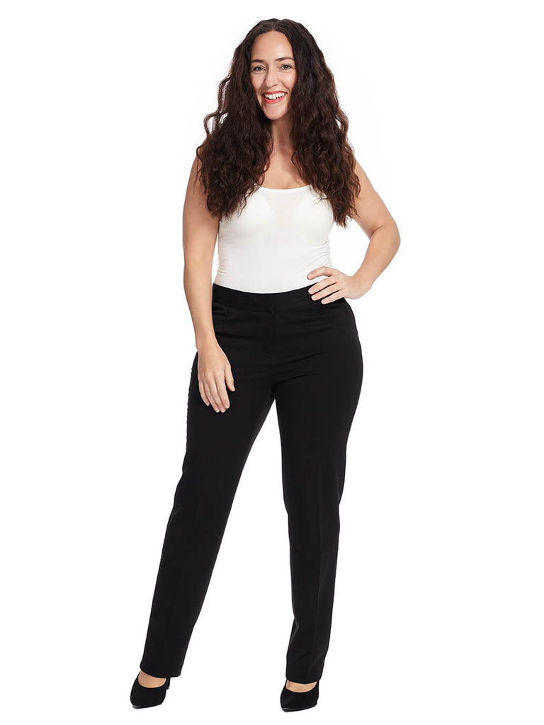 Curvy Fit Slim Leg Pant In Black