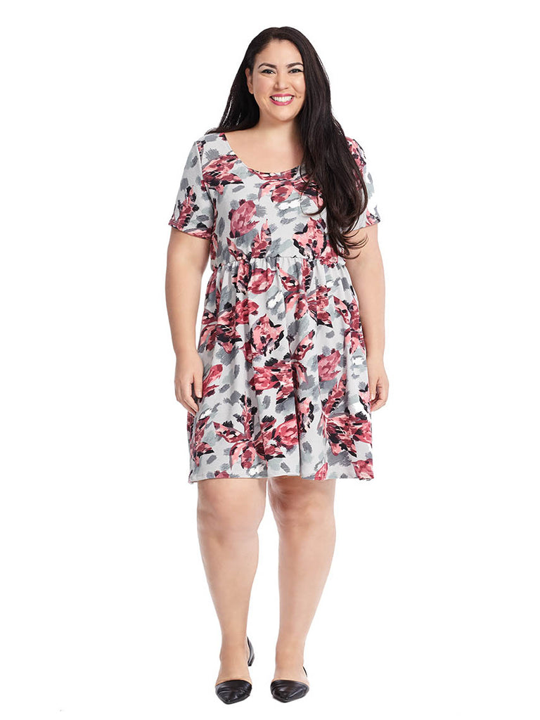 Penelope Dress In Pink Floral Print