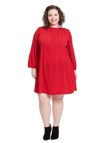 Petra Dress In Lipstick Red