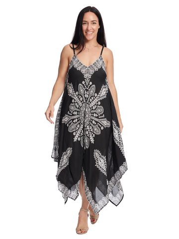 Hanky Hem Black Drew Dress