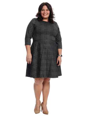 Noble Plaid Circle Dress