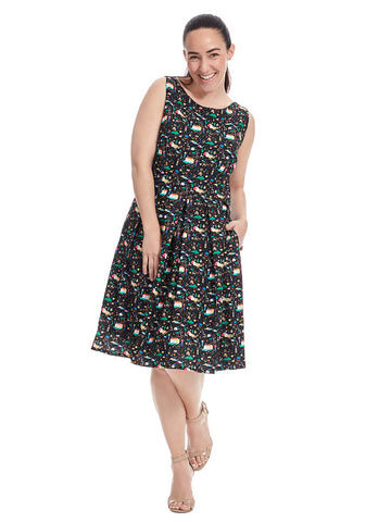 Winnie Dress In Narrative Print