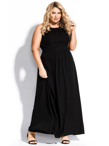 Devotion Maxi Dress In Black