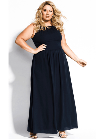 Devotion Maxi Dress In Navy