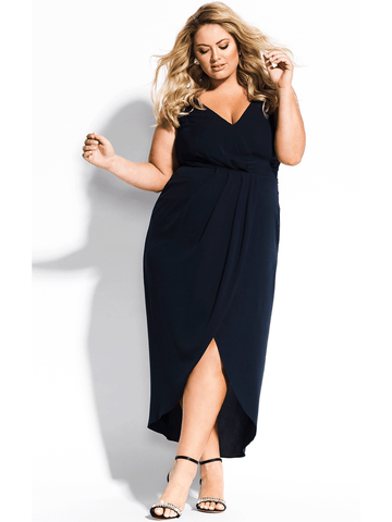 Cherish Maxi Dress In Navy