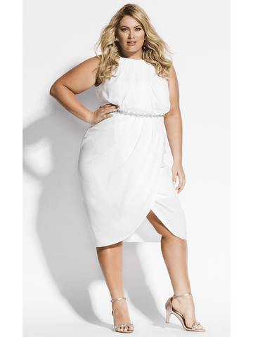 Wrap In Love Dress In Ivory