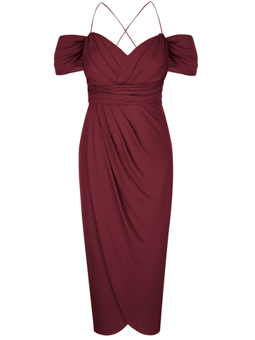 Entwine Maxi Dress In Merlot