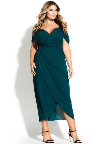Entwine Maxi Dress In Emerald
