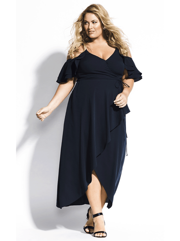 Miss Jessica Maxi Dress In Navy