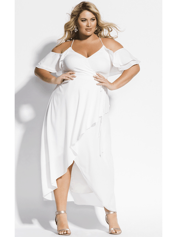 Miss Jessica Maxi Dress In Ivory