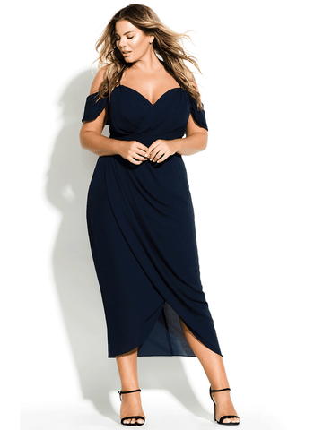 Entwine Maxi Dress In Navy