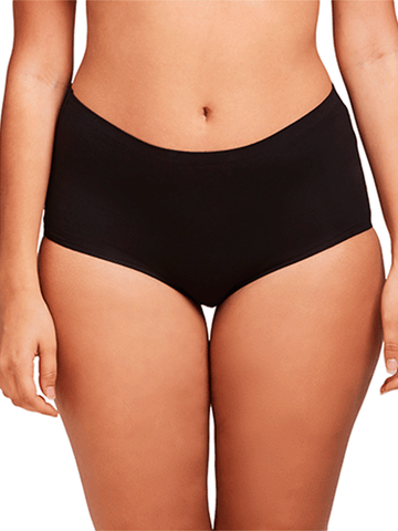 Cotton Bonded Panty In Black- 2 Pack