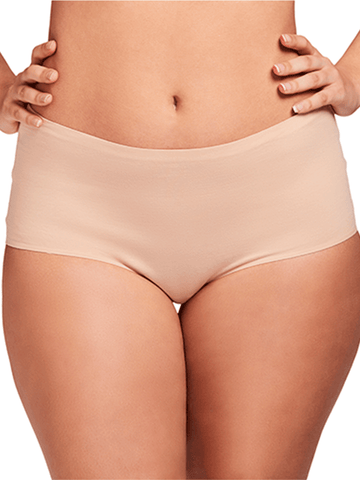 Cotton Bonded Panty In Nude- 2 Pack