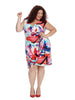 Side Ruched Dress In Abstract Print