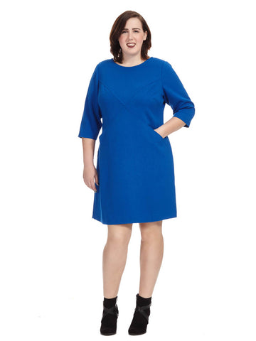 Shift Dress In Cobalt Blue