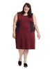 Marsala Colorblocked Scuba Dress