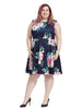 Rose Garden Dress In Navy
