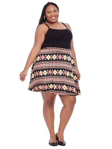 Skater Skirt in Aztec Print