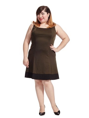 Dolan Dress in Olive & Black