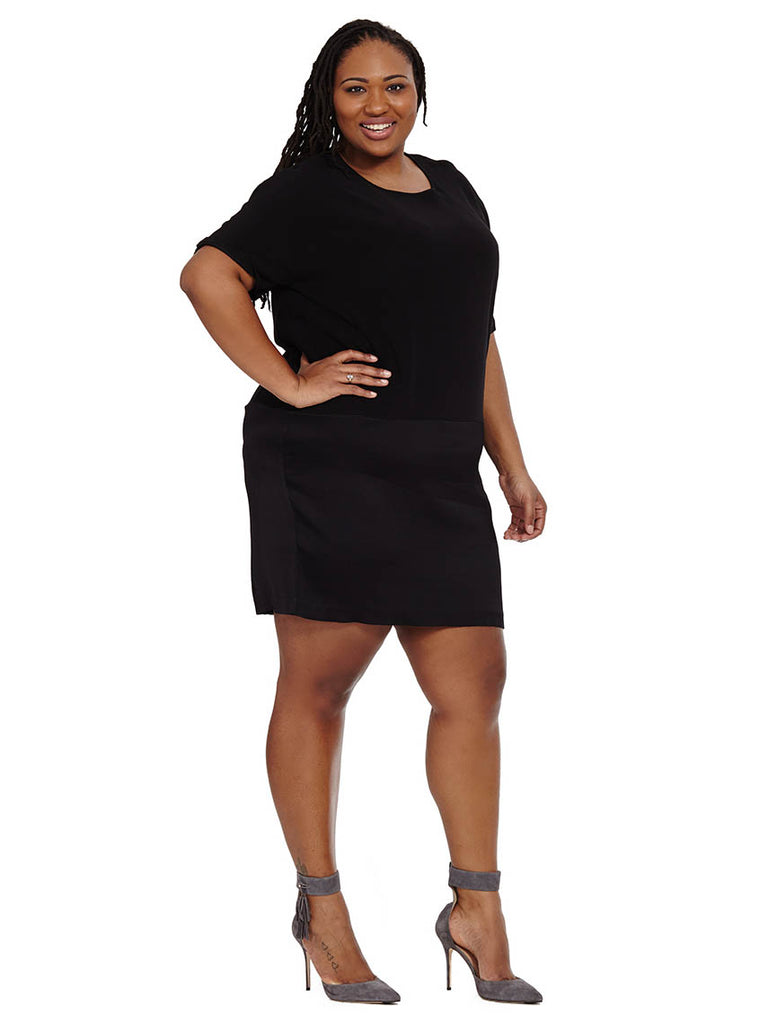 Avenir Tulip Dress In Universal Black