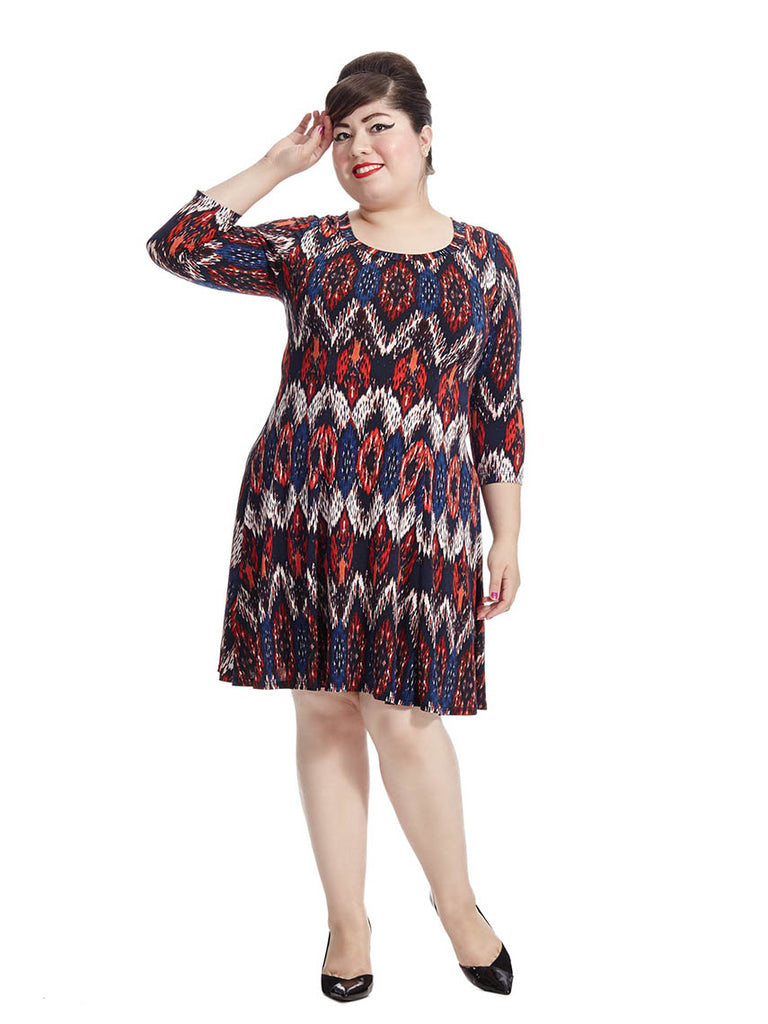 Pacific Ikat A-Line Dress