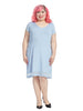 Florence Dress In Foxglove Blue