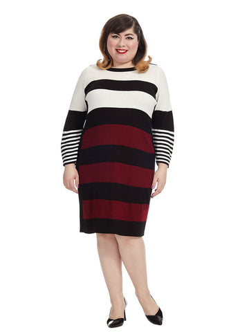 Mixed Stripe Sweater Dress