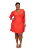 Harbour Dress In Carmine Red