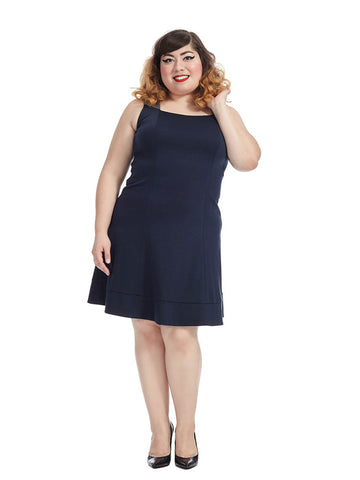 Dolan Dress In Navy & Gray