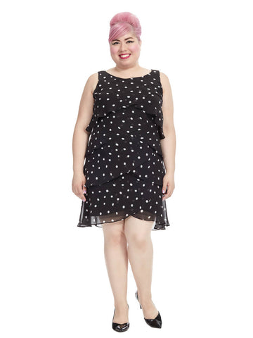 Polka Dot Dress In Black and White
