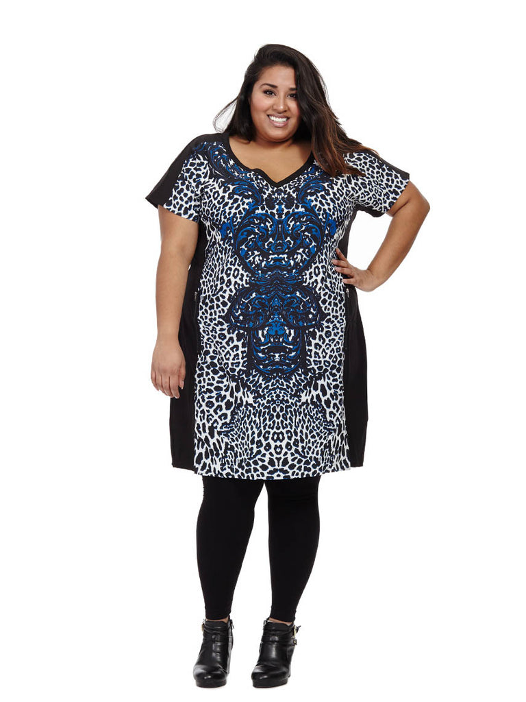 Regal Leopard Tunic Dress