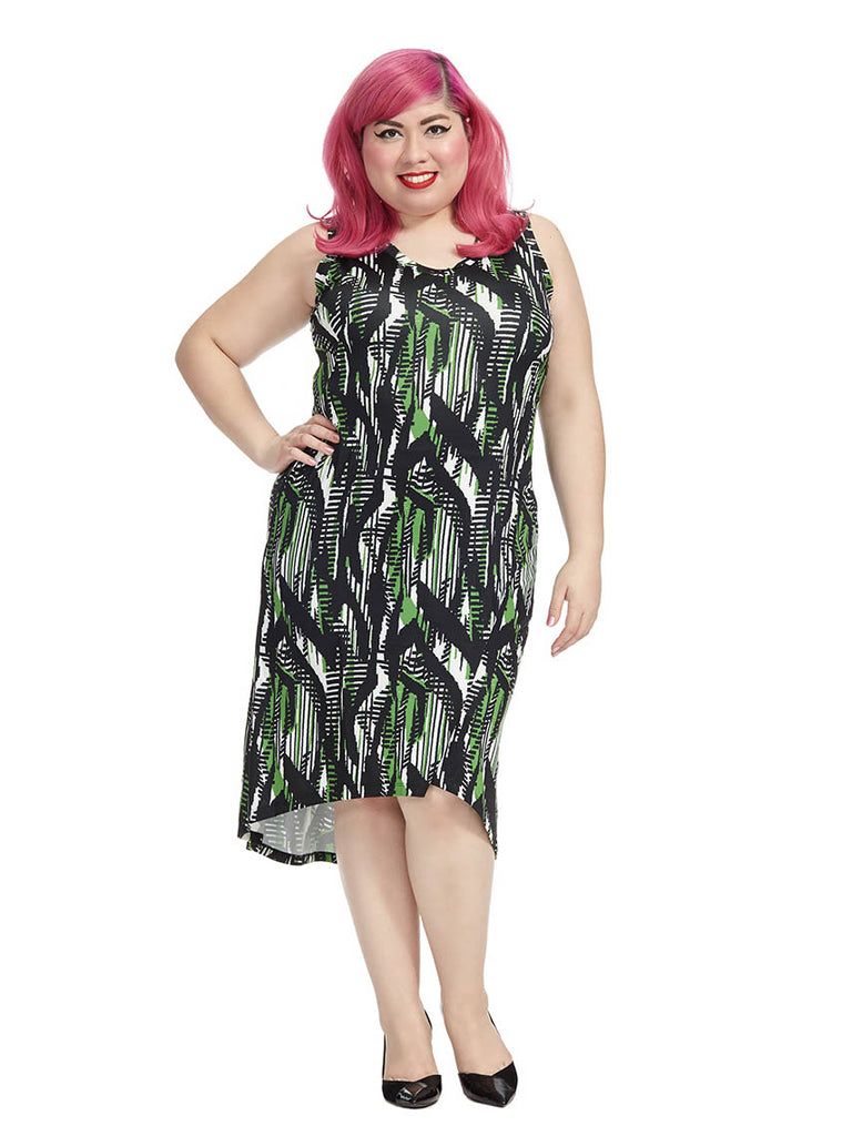 Jungle Printed Hi-Lo Tank Dress
