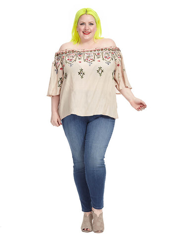 Border Embroidery Top