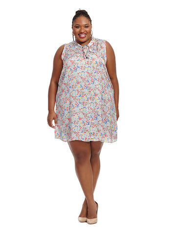 Dress In Floral Country Print