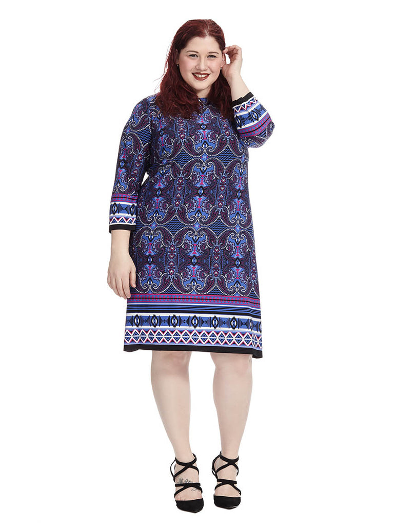 Shift Dress In Paisley Print