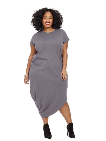 Geneva Dress In Anchor Grey