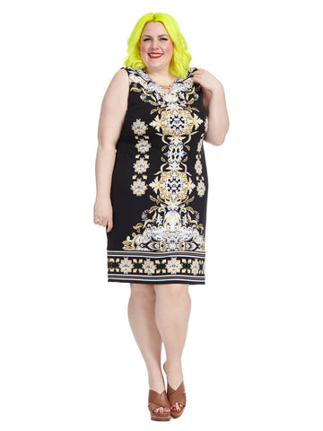 Governor Scroll Print Dress