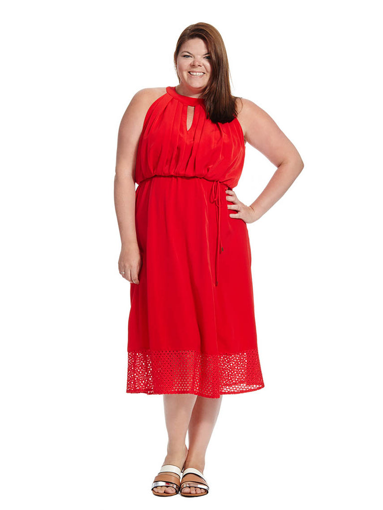 Keyhole Dress In Red