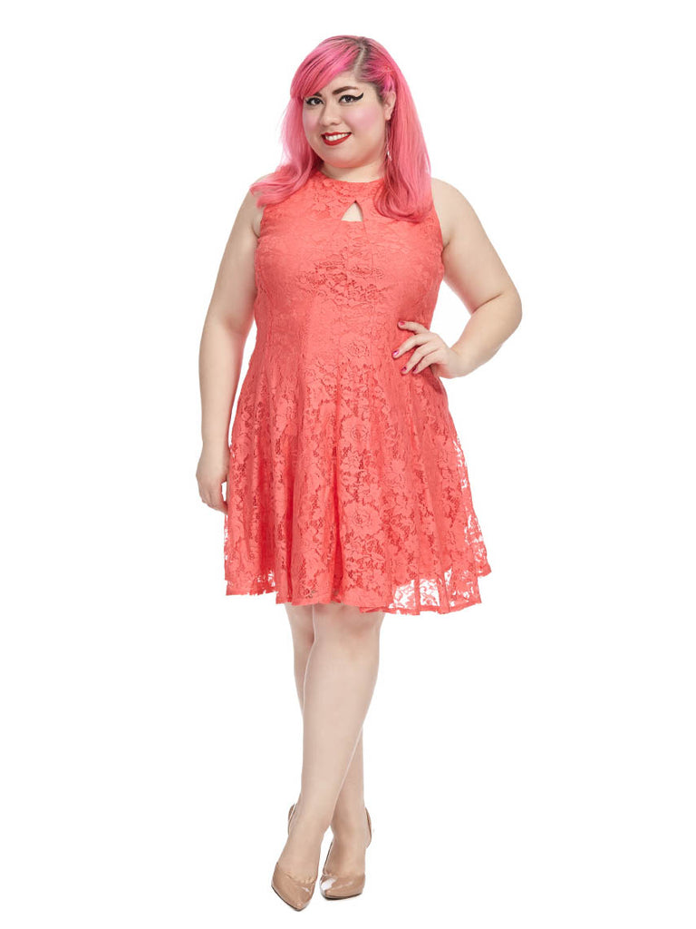 Coral Reef Lace Dress
