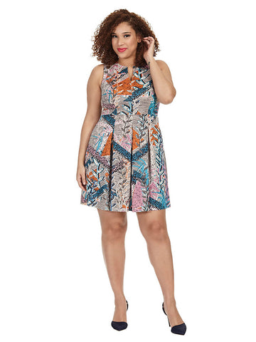 Tessa Dress In Swinging Vines Print