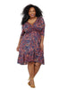 Flirty Flounce Dress In Paisley Print